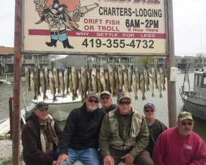 Walleye fishing on Lake Erie from Port Clinton, Oh. with Capt. Dave