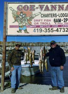 Walleye charter fishing on Lake Erie