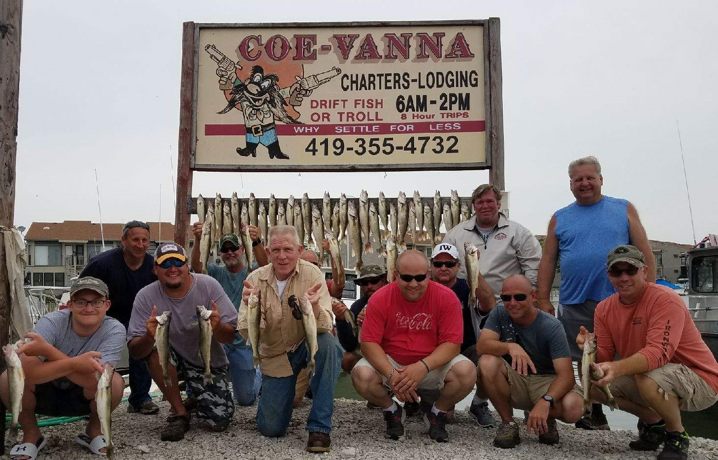 Lake Erie walleye charter fishing boats. Fishing east of Toledo in Port Clinton, OH