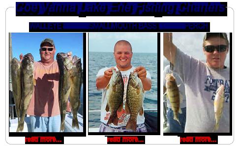 Lake Erie fishing charters walleye, perch, and bass fishing, Port Clinton
