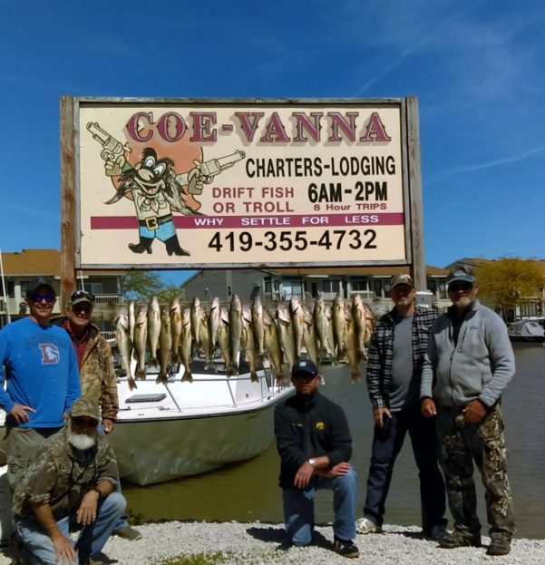 Coe vanna charters autos post for Lake erie fishing charters port clinton