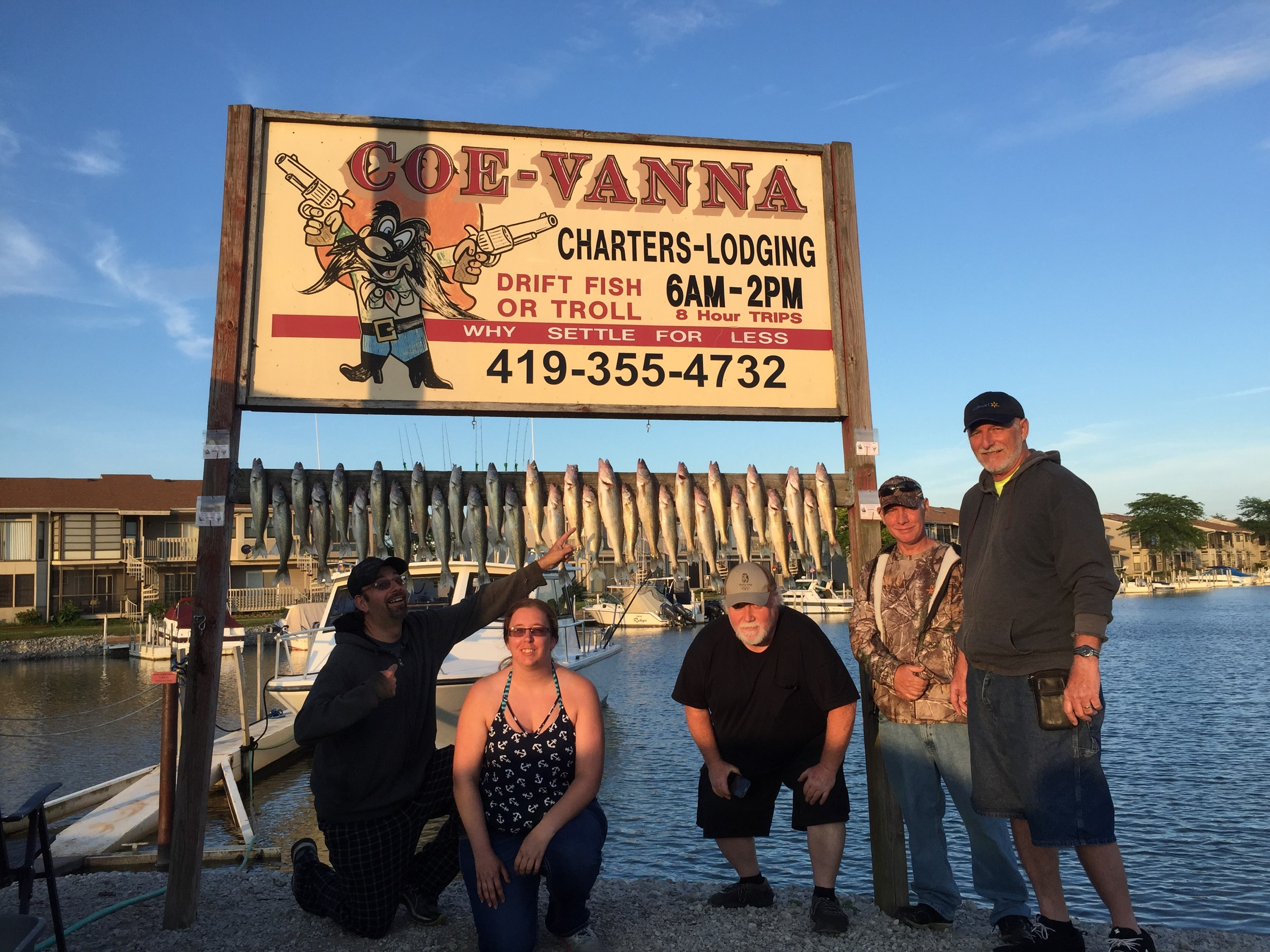 Lake Erie Fishing Charters trolling for walleye