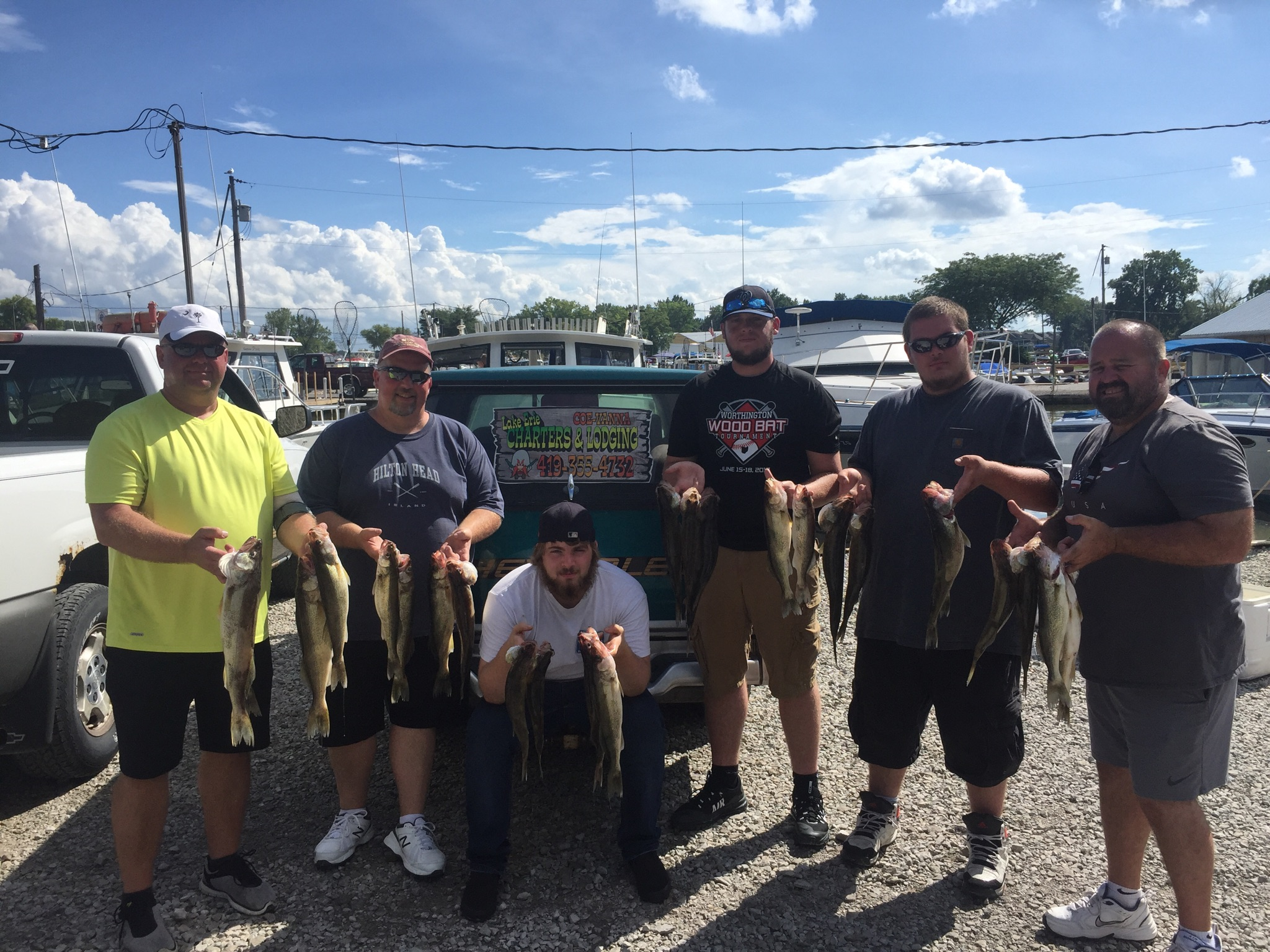 Walleye fishing charter boats on Lake Erie