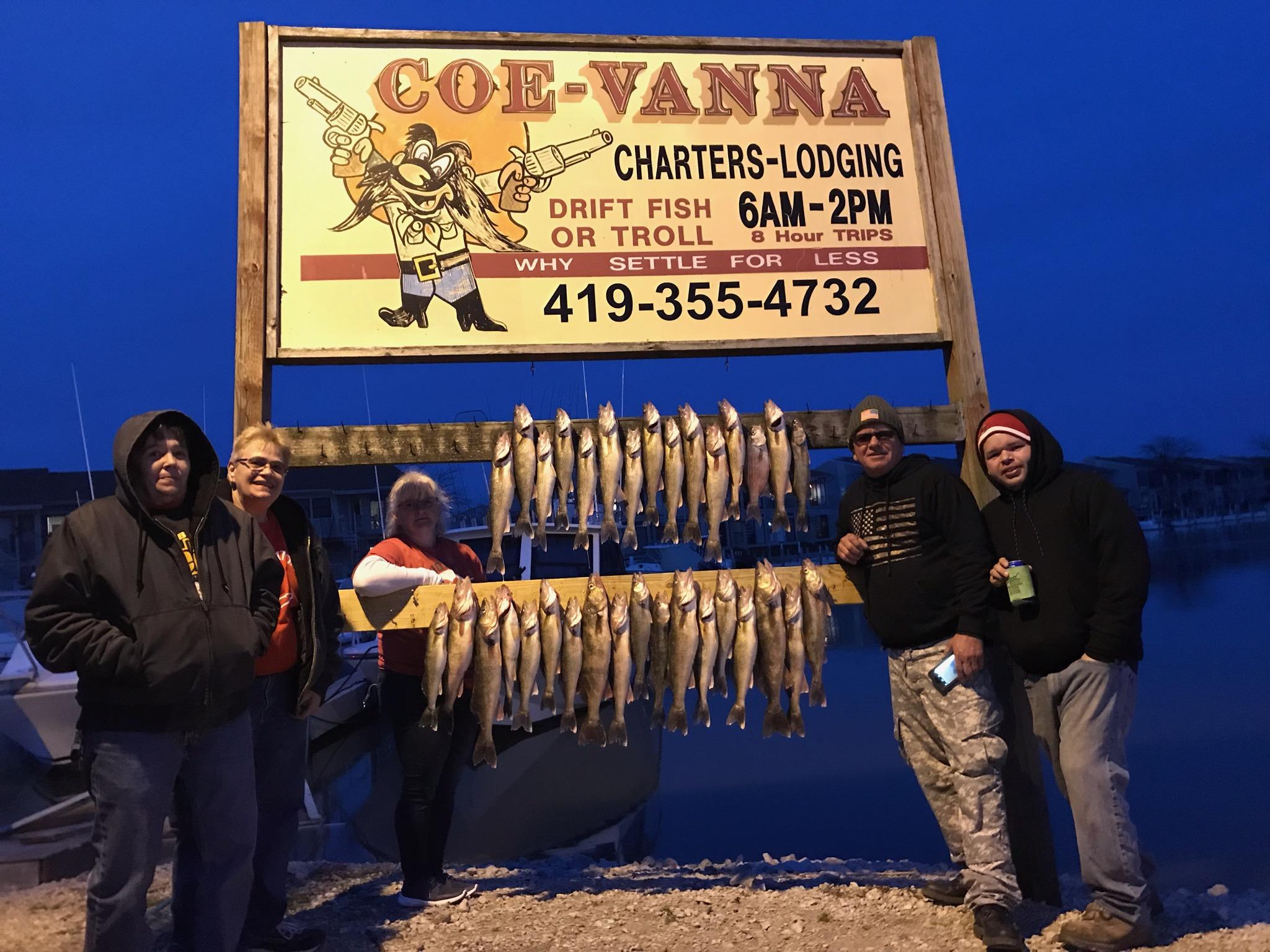 Fishing charter on Lake Erie