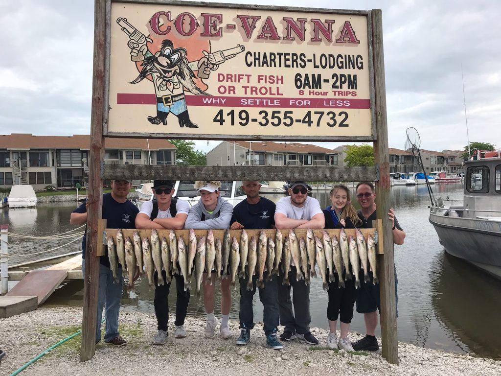 Lake Erie walleye fishing charter boat