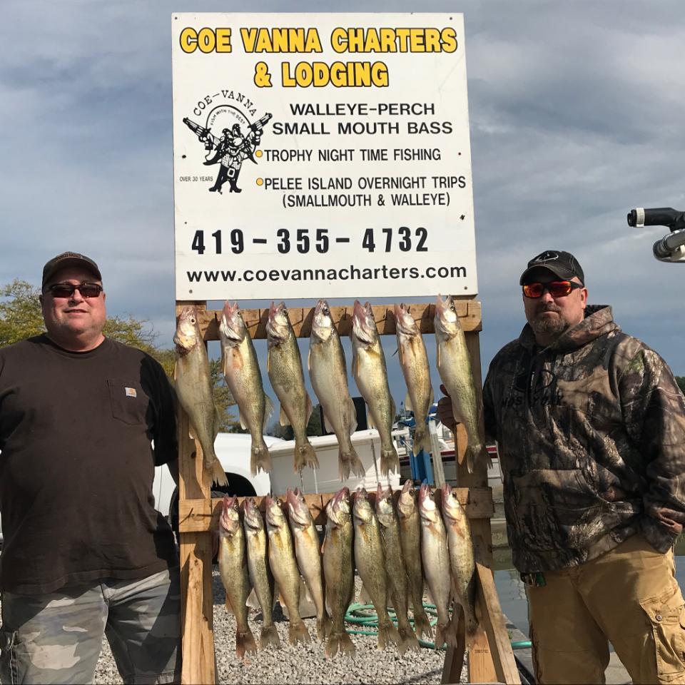 Lake Erie walleye fishing charter boats