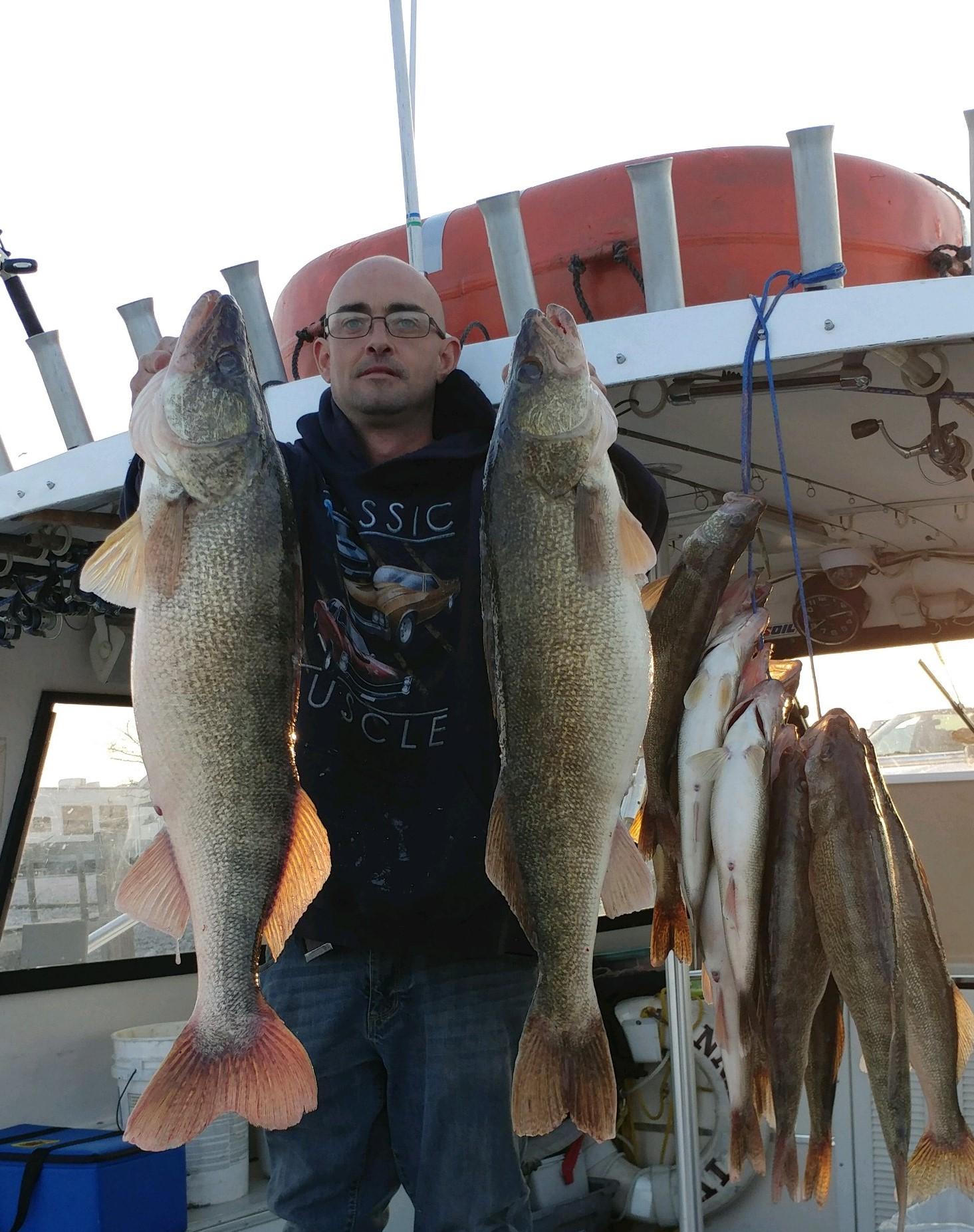 charter boat fishing on Lake Erie