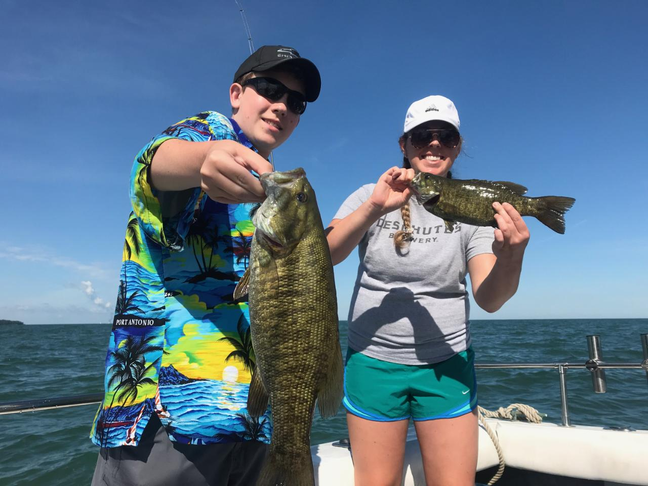 Lake Erie Small mouth Bass fishing charters