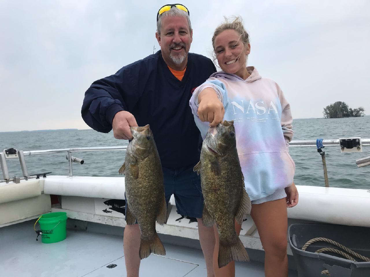 Lake Erie Bass fishing charter boats Port Clinton